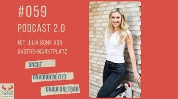 Podcast-Interview mit Julia Bonk von Gastro-Marktplatz